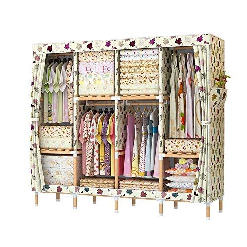 NXYJD Armario Vestir Armario Dormitorio Armario del almacenaje Mobiliario de Dormitorio ropero Textiles no Tejidos Plegable