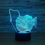 Marlin Fish Lights Visual Colorido luz Nocturna decoración Creativa Sala de Estudio lámpara de Mesa de Estudio luz de Noche de sueño Regalo para niños
