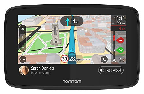 TomTom Car Sat Nav GO 5200, 5 Inch with Handsfree Calling, Siri, Google Now, Updates via WiFi, Lifetime Traffic via SIM Card and World Maps, Smartphone Messages, Capacitive Screen