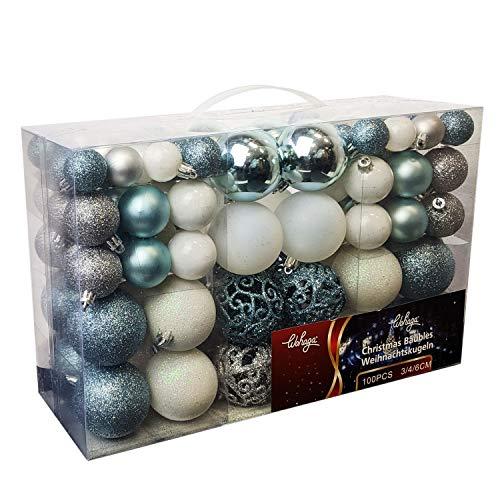Wohaga - Set di palline di Natale da 50/100 pezzi