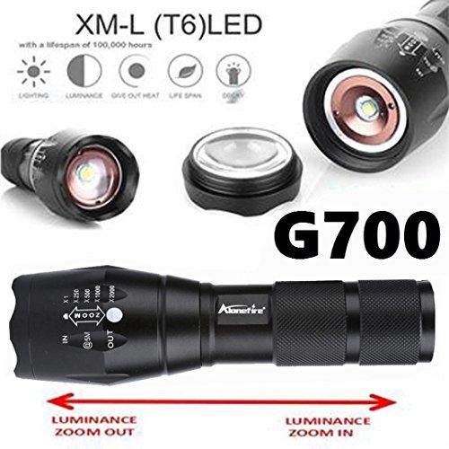 5/modalit/à zoom Bar XM-L T6/taktischtaschenlampe by huichang Torcia a LED 5000/Lumens