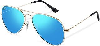 HELBEK - ORVILLE   Gafas de Sol aviador. Ligeras y Resistentes - Protección UV400 + Lentes Polarizadas.