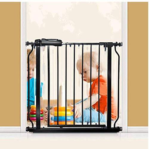 AYHa Compuerta metálica ancha extensible fija con cerradura sin agujeros en la pared combinable con barandillas Ideal para niños y mascotas,110