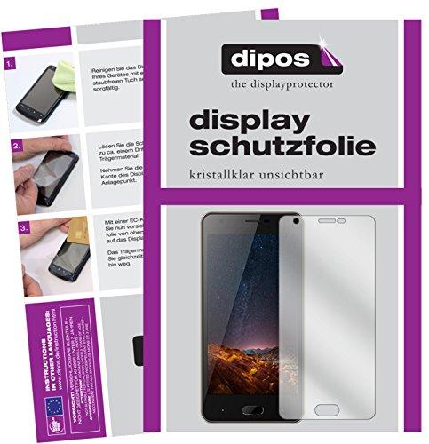dipos I 2X Schutzfolie klar kompatibel mit Doogee X20L Folie Bildschirmschutzfolie