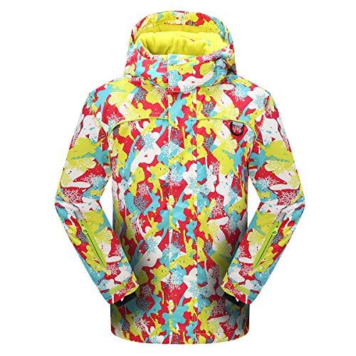 PHIBEE Girls' Sportswear Waterproof Windproof Snowboard Ski Jacket Yellow 12