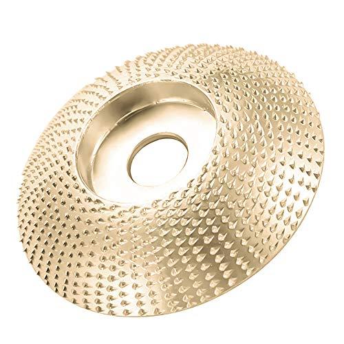 Winkelschleifscheibe, Schleifscheibe Holz, Winkelschleifer Sanding Wheel für Carving Tools 85 mm/100mm (Gebogene Oberfläche - Golden,85mm)