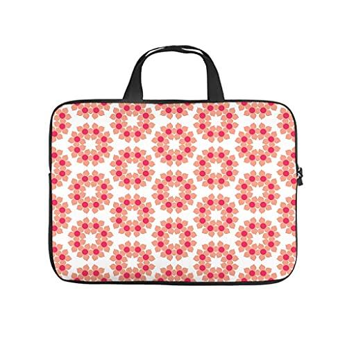 Funda para portátil con estampado geométrico de flores japonesas, antiestática, para universidad, trabajo, negocios, regalos, Blanco, 13 pulgadas,