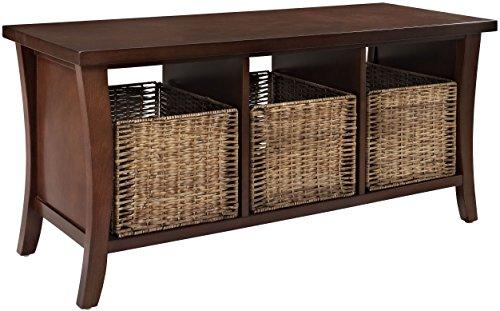 Crosley Furniture Wallis Entryway Storage Bench - Vintage Mahogany