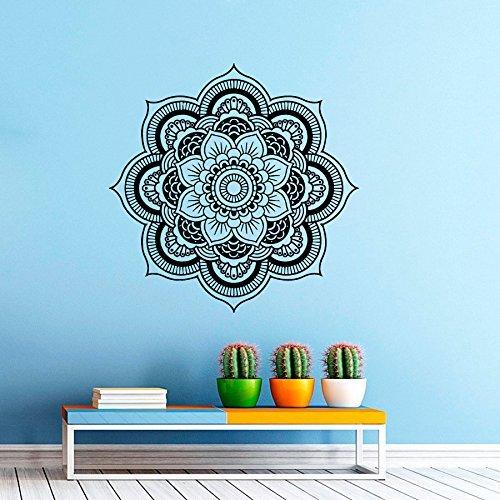 'pared adhesivo/pared pegatinas de vinilo, diseño de mandala, marroquí, diseño geométrico de la India Om Symbol Namaste Yoga Studio Home Decor–Fotografía mural habitación de los Niños, 70 cm x 70 cm