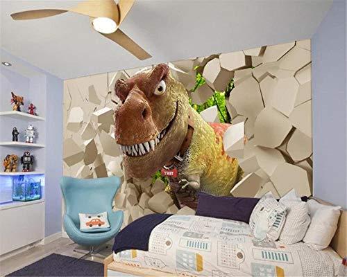 Papel Pintado,Gran Mural 3D Personalizadas Wallpaper Animal De Dibujos Animados Dinosaurios Sofá TV Estéreo De Pared De Fondo Children's Salón Dormitorio Decoración De Hogar