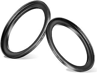 52-58(52mm Lens to 58mm Filter) Step-up Aerometal Camera Lens Filter Adapter Ring(2 Packs), Fire Rock Aviation Aluminum Al...