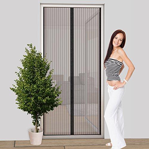 Easy Life Hor voor deur, magneetgordijn, 100 x 220 cm, basic insectenbescherming, deurgordijn met magneetsluiting, eenvoudige kleefmontage, vliegengordijn, individueel in te korten