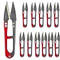 UCEC Sewing Scissors Zhang xiaoquan Scissors Cutter Mini Scissors Snips Trimming Nipper, 12 Pack Embroidery Scissors Curved Thread Scissors for Stitch, DIY Supplies