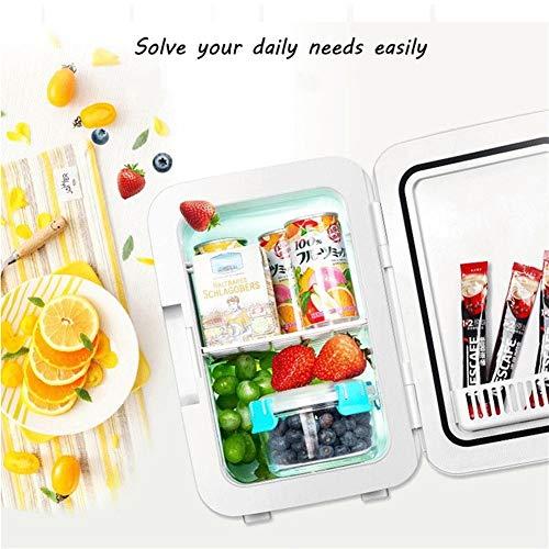 LVYI autokoelkast, dubbel doel voor cosmetica, koeling, kleine huishouden, slaapkamer, mini-koelkast, verwarming en koeling