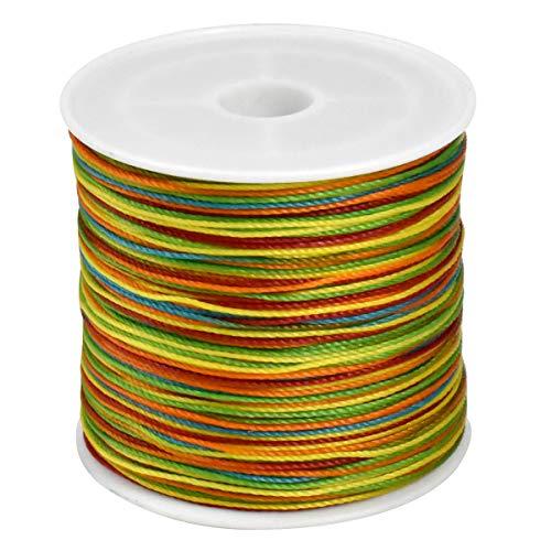 Cordón de Hilo 0.6mm Poliéster Encerado Hilo de Pulsera de Macramé para Fabricación de Joyas Cables de Bricolaje 70m