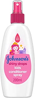 JOHNSON'S Shiny Drops Kids Conditioner Spray 200ml – Designed to Boost Hair's Natural Shine – pH Balanced for Delicate Skin
