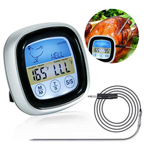 Fleischthermometer Digital, Grillthermometer, Meater Fleischthermometer, Bratenthermometer, Ofenthermometer mit Küchentimer Funktion für BBQ, Ofen, Grills, Küche, Smoker