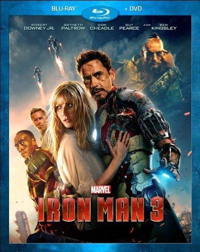 Iron Man 3 Blu-ray New life DVD Combo by Disney Walt Pack Studios Hom 4 years warranty
