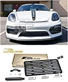 Extreme Online Store Replacement for 2016-Present Porsche 981 Cayman GT4 Models | EOS Plate Version 2 Front Bumper Tow Hook License Relocator Mount Bracket Tow-363-V2 (Full Size)