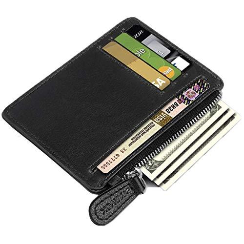 Arvok Smalle portemonnee RFID bescherming kaarten mini portemonnee kleine kaarthouder kaarthouder portemonnee creditcardetui klein etui voor heren en dames (zwart)