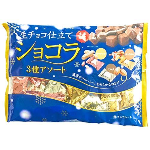 生チョコ仕立てショコラ 3種アソート 160g×12袋 個包装 ミルク キャラメル ピーナッツ チョコ チョコレート