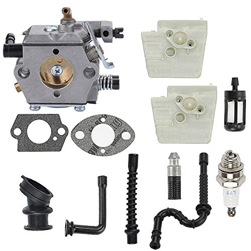 Hayskill WT-194 Carburetor w Tune Up Kit Air Filter for Stihl 024 026 MS240 MS260 Chainsaw WT-194-1 Tillotson HU-136A HS-136A Carb Replace 1121 120 0611