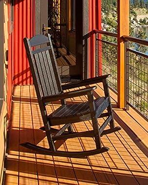 POLYWOOD R100BL Presidential Rocking Chair, Black