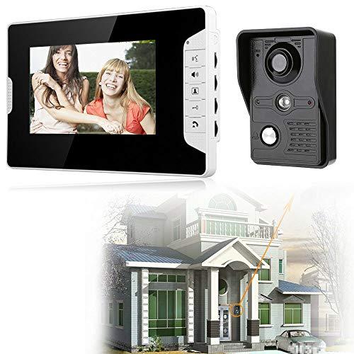 Videoportero con monitor de 7 pulgadas, interfono con cámara y cable para casa u oficina