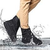 Reutilizable impermeable zapatos cubre antideslizante suelas con cremallera botas de nieve lluvia al aire libre equipo de protección para mujeres y hombres, XXL