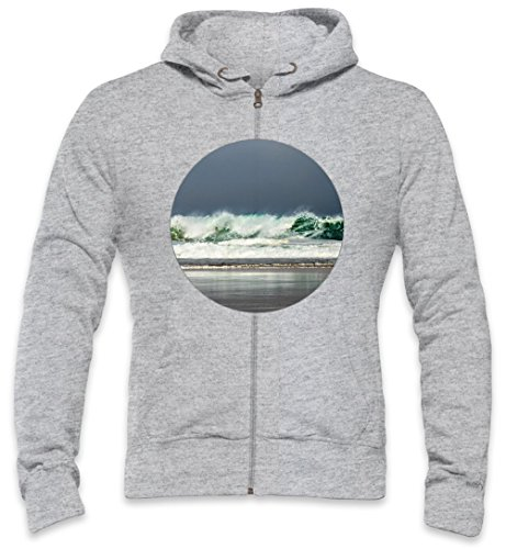 Storm In The Ocean Mens Zipper Hoodie XX-Large