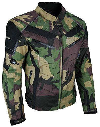 HEYBERRY Motorrad Jacke Motorradjacke Camouflage Woodland Gr. M