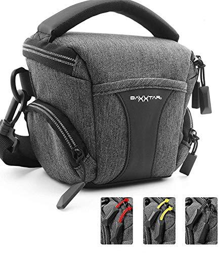 Baxxtar Modena S Kameratasche - DREI Farben Zipperband - Coolpix B500 B600 B700 - PowerShot G3 x (24-60mm) SX70 HS SX540 HS - Alpha 6400 6500 6600