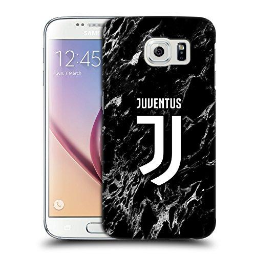 Head Case Designs Licenza Ufficiale Juventus Football Club Nero Marmoreo Cover Dura per Parte Posteriore Compatibile con Samsung Galaxy S6