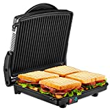 Panini Press Grill, Kealive 4-Slice Extra Large Gourmet Sandwich Maker Grill, Opens 180 Degrees to...