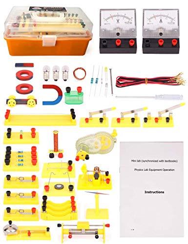 YYSDH Circuitos Ciencia Física Lab Kit básico para Estudiantes de la Escuela Secundaria Menor/Mayor Equipo de Laboratorio Real eléctrico Stem Juguetes de Navidad para Niños 13 Años de Edad