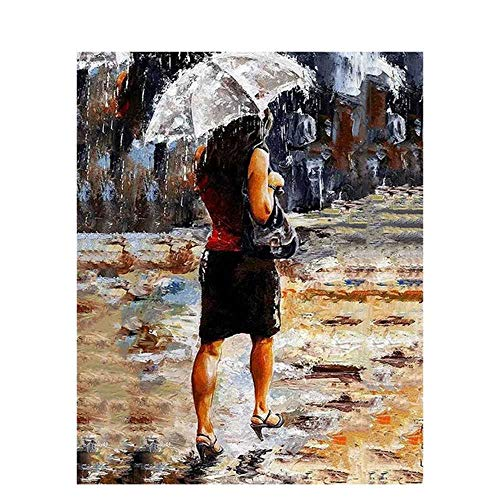 nobrand Walking Leinwand MalereiDIYÖl Digitale Malerei Nach Zahlen Abstrakt Impressionist StilllebenAcryl DIY Farbe Mit Zahlen