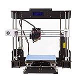 Impresora 3D, DIY A8-W5 Pro Aviación Madera Pantalla LCD de alta precisión Escritorio Impresoras 3D Kit de impresora con filamento de impresora ABS/PLA de 1.75 mm gratis (20 × 220 × 240 mm)