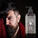 Beard Wash Shampoo w/Argan & Jojoba Oils - Softens & Strengthens - Natural Peppermint and Eucalyptus Scent - Beard… 3