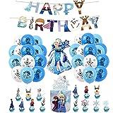 Decoraciones de Fiesta Cumpleaños Congelada Globos Feliz Cumpleaños del Pancarta Adornos de Pastel Globos de Aluminio para Niños Decoracion Cumpleaños Frozen