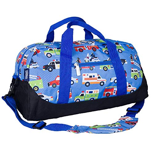 Wildkin Kids Overnighter Duffel Bags for Boys & Girls, Measures 18 x 9 x 9 Inches Duffel Bag for Kids, Carry-On Size & Ideal for School Practice or Overnight Travel, BPA-free (Heroes)