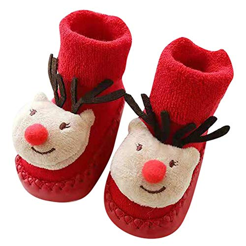 SUNTRADE Calcetines de bebé recién nacido, antideslizantes, interiores, para niños y niñas c S