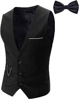 YaoDgFa Men's Suit Waistcoat Vest Business Slim Fit Wedding