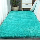 Fnho alfombras mullidas de Interior súper,Suaves y mullidas Alfombra de Dormitorio,Alfombra Antideslizante en el Dormitorio, tapetes Alrededor de la Cama-O_1.6 × 1.2m