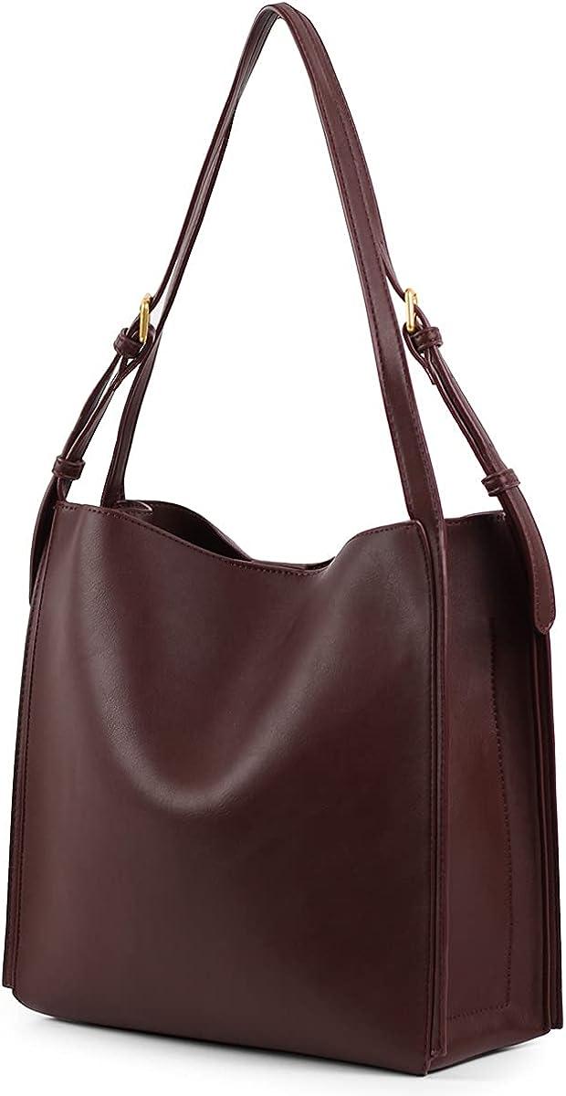 Women's Tote Handbags Fashionable and Simple Design PU Leather Top Handle Ladies Satchel Shoulder Hobo Purses and Handbags