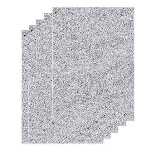 Tampons en feutre 21 cm x 30 cm X 5 mm premium Merlinae - Épais et résistants - Feuilles de feutrine pour meubles - Rectangulaires - Pour chaise, pied de table, sols en bois dur - Lot de 5