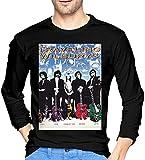 Photo de Thimd Traveling Wilburys T-Shirt d'extérieur Confortable à Manches Longues pour Hommes 100% Coton T-Shirts d'impression Tee Black