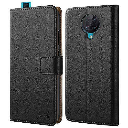 HOOMIL Handyhülle für Xiaomi Poco F2 Pro Hülle, Premium PU Leder Flip Hülle Schutzhülle für Xiaomi Poco F2 Pro 5G Tasche, Schwarz