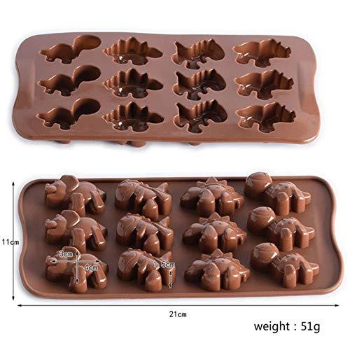 QINS Silicone gâteau Moule Chocolat Moule Biscuits Moule Bouton Forme gâteau décoration Outils Accessoires de Cuisine Muffin ustensiles de Cuisson, 9 Triangle