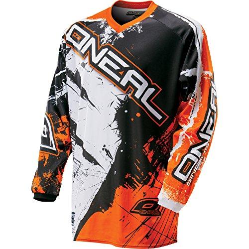 ONeal Element Jersey Shocker Schwarz Gelb Moto Cross Shirt MX DH Enduro MTB Bike
