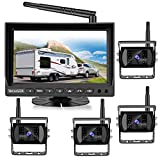 Wireless Backup Camera for Truck RV Bus, VECLESUS VMW7-4C 1080P Digital Wireless Backup Camera System, 4 Wireless Cameras for Side, Front and Rear View, Maximum Transmission Distance Over 100FT(30M)